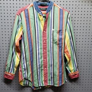 Vintage polo boys shirt sz large,  striped